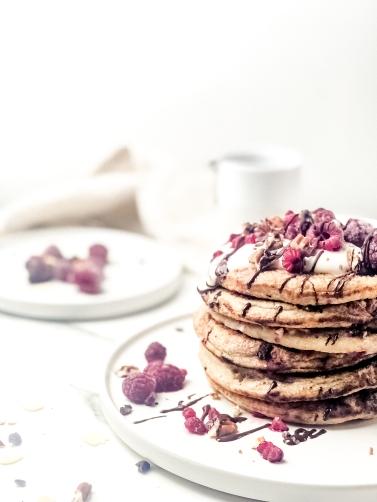 Vegan Raspberry Pancakes